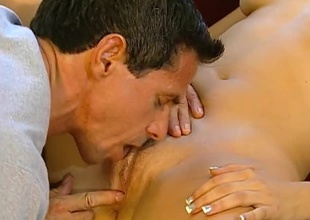 Peter North screwing unchanging atop fantastic Brunette.  Good eye contact, multiform positions and great cumshot.