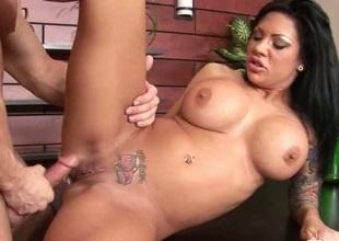 Big boobs brunette drilled