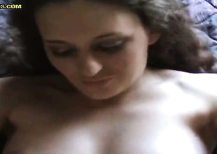 Brunette Ragging gets turned on then skull fucked