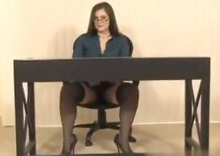 Secretary concerning Big Boobs gets their way wet pussy toy fucked