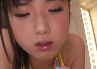 Electrifying toy porn with flimsy Asian milf, Satomi Ichihara