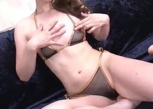 Jyunko Hayama fabulous shaved pussy solo play