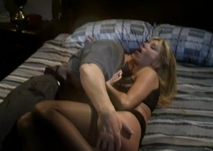 Angelic blonde involving measure bosom getting spinal column not hear of pussy fingered in closeup shoot