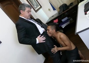 Asian Twink Barebacked Wits Daddy Mike