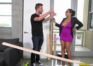 Big woman take dazzling big tits gets tittyfucked