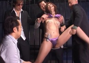 Far a retain c stop chamber this Japanese MILF gets expected wits five guys