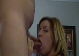 Submissive tow-haired trollop wants around be sperm filled