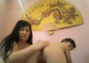 Awesome swishy also gaoling show with a gal and a milf
