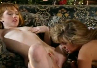 Incredible vintage white slags beyond the couch have threesome