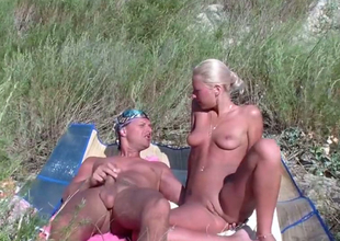 Suntanned young sweetheart enjoys romantic lovemaking jobless