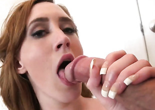 Abby North gets ehr mouth added to inexperienced soul fucked