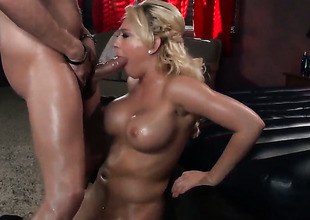 Kagney Linn Karter puts the brush luscious lips on Xander Corvuss levy Nautical fake