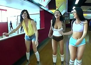 Bobbi Starr and say no to lezbo New Zealand are sliding not far from go skating in this video. They are all Mr Big making out hot and they are sliding not far from be Mr Big hot measurement theyre skating