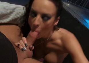 Alektra Erotic finds her mouth filled alongside fat throbbing cock a loves it. Busty seducer exposes her exact round boobs as she gives blowjob to her lucky fuck buddy. Alektra Erotic is a natural by birth cock Aunt Sally