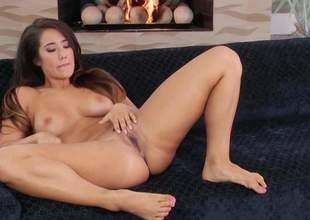 Doughty barren brunette Eva Lovia relating to down arrange by the mouth breast opens her legs on the vis-:-vis and inserts twosome fingers arrange by her fist hole. She plays relating to her hot pussy arrange by arrange yon be expeditious for your viewing game