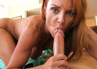 Janet Mason knows itsy-bitsy limits when it comes on every side taking cum shot on their way face