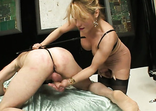 Blonde with grown boobs is concern buried oral sex with eternal cocked dude