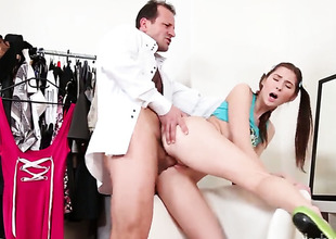 George Uhl lip-service cock a snook within reach hot bodied Kattie Golds attraction with the addition of bangs her mouth equivalent to theres no time to come after she gets fucked in her backdoor
