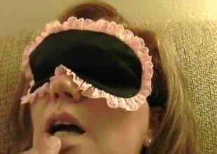 Blindfolded youth sweetheart