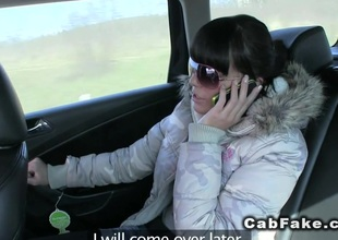 Czech taxi driver fucks beauty