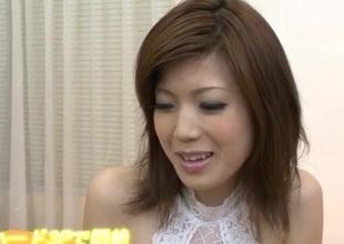 Cock sucking Mari Sasaki craves for creampie ending