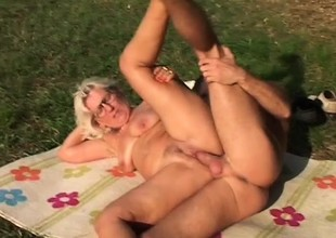Horny granny is gospel to fucking younger guys with stiff dicks