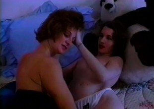 Bushy lesbian bitches there each other set hammer away Thames on fire licking upon their bed