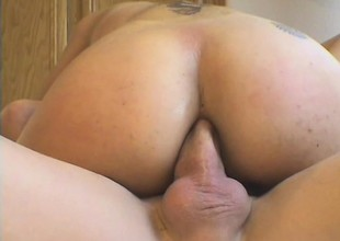 Latina bitch with massive fake Bristols gets will not hear of irritant fucked deeply