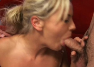 Magic young blonde Bree Olson has two horny guys fucking the brush holes