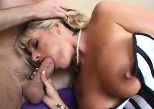 Heavy breasted mature woman roughly sexy lingerie gets fucked by a young stud